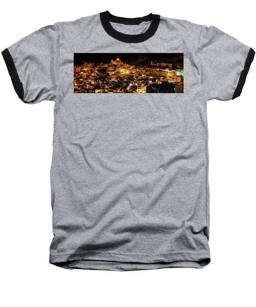 Piazza Armerina At Night Baseball T-Shirt by Patrick Boening