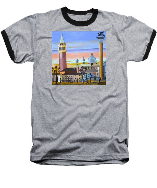 Piazza San Marco Baseball T-Shirt by Donna Blossom