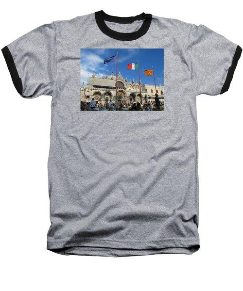 Piazza San Marco Venice Baseball T-Shirt by Lisa Boyd