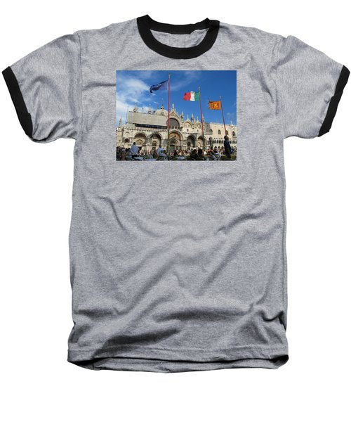 Piazza San Marco Venice Baseball T-Shirt