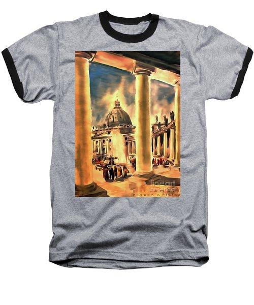 Piazza San Pietro In Roma Italy Baseball T-Shirt