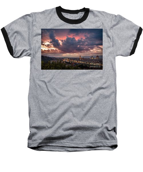 Piazzale Michelangelo Baseball T-Shirt by Giuseppe Torre