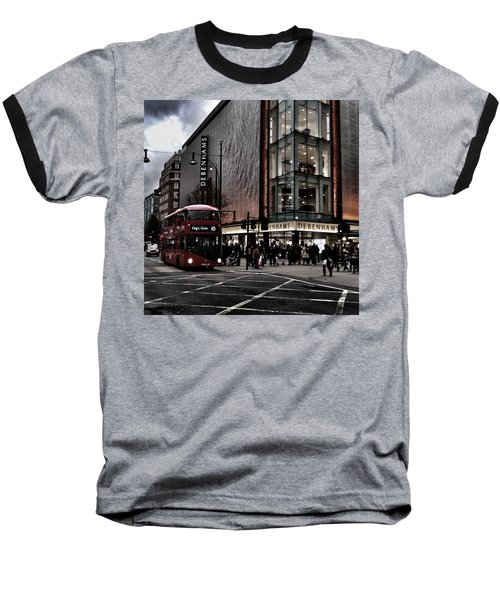 Piccadilly Circus Baseball T-Shirt
