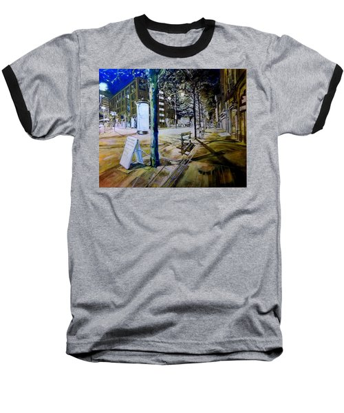 Piccadilly Gardens, Manchester Baseball T-Shirt