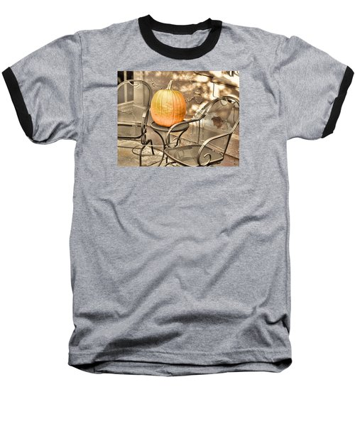 Pick A Pumpkin Baseball T-Shirt by JAMART Photography
