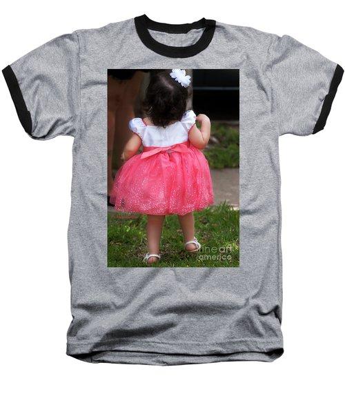 Pick Me Up Baseball T-Shirt by Joan Bertucci