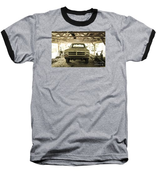 Pick Up Truck In Rural Farm Setting Baseball T-Shirt by Perry Van Munster
