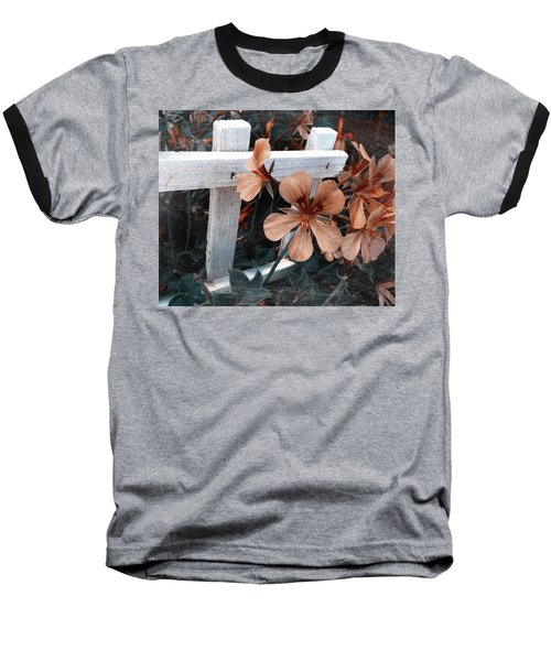 Picket Fence Blooms Baseball T-Shirt