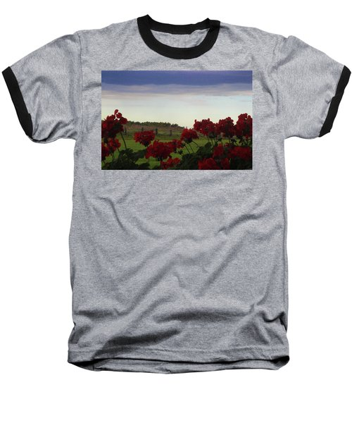 Picket Fence, Flowers And Storms Baseball T-Shirt