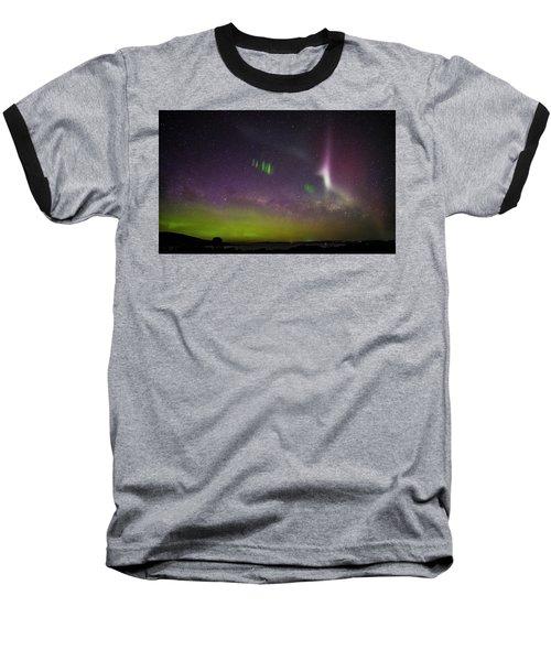 Picket Fences And Proton Arc, Aurora Australis Baseball T-Shirt
