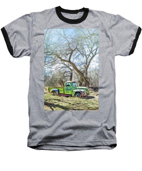 Pickup Under A Tree Baseball T-Shirt by Robert FERD Frank
