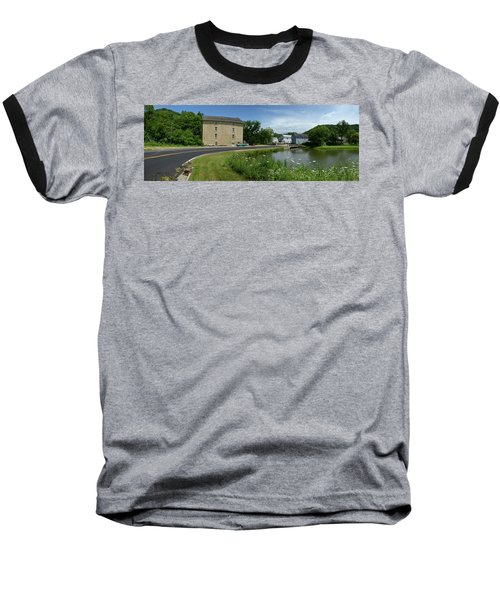 Pickwick Mill Panorama Baseball T-Shirt by Janice Adomeit