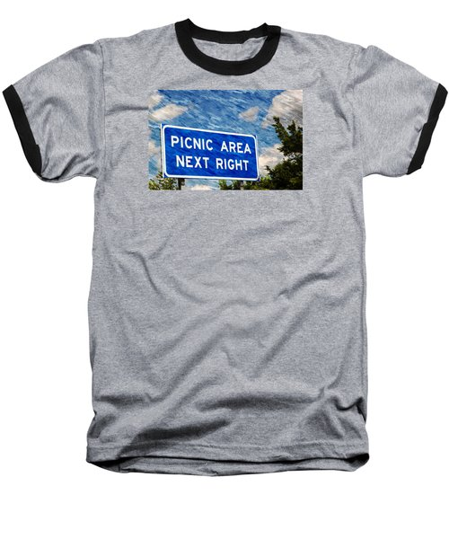 Baseball T-Shirt featuring the photograph Picnic Area by Bob Pardue
