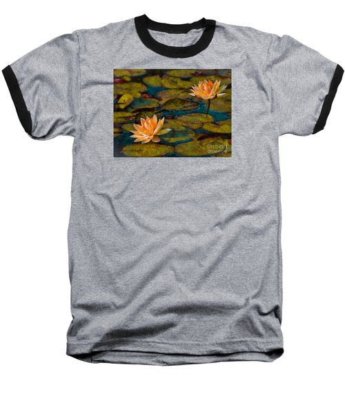 Picnic By The Pond Baseball T-Shirt by John  Kolenberg