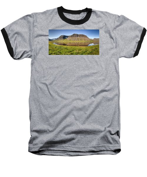 Picnic - Panorama Baseball T-Shirt by Brad Grove
