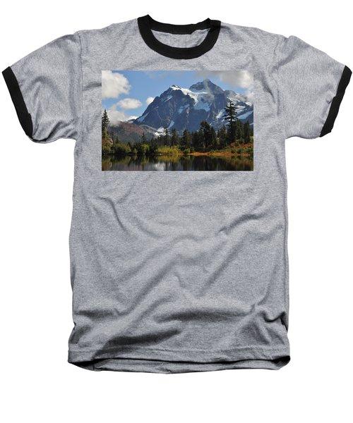 Picture Lake And Mount Shuksan Baseball T-Shirt