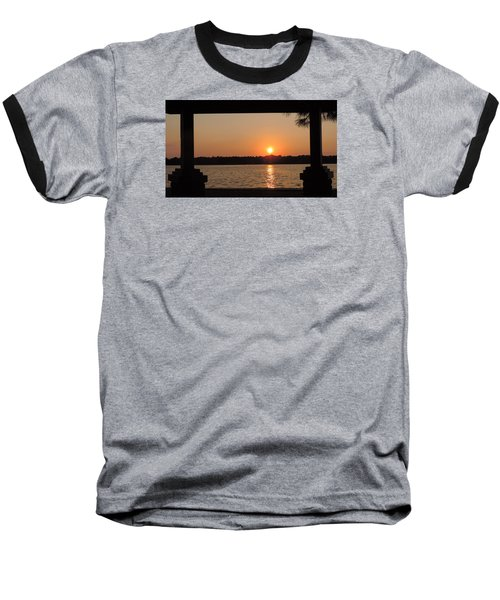 Baseball T-Shirt featuring the photograph Picture Perfect Sunset by Teresa Schomig