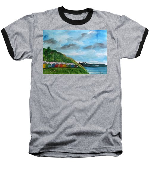 Picture Postcard View Of Scarborough Baseball T-Shirt by Carole Robins