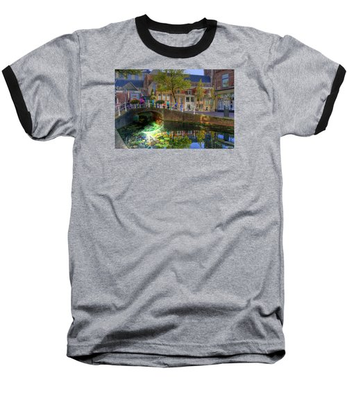Picturesque Delft Baseball T-Shirt by Uri Baruch