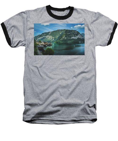 Picturesque Hallstatt Village Baseball T-Shirt