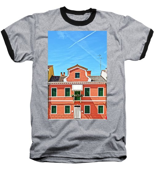 Picturesque House In Burano Baseball T-Shirt