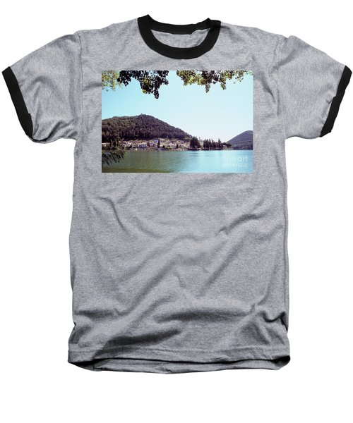 Piediluco And Piediluco Lake Baseball T-Shirt by Fabrizio Ruggeri