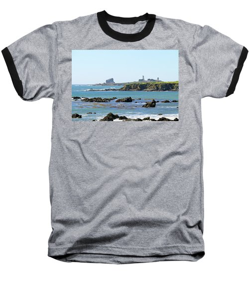 Baseball T-Shirt featuring the photograph Piedras Blancas Lighthouse by Art Block Collections