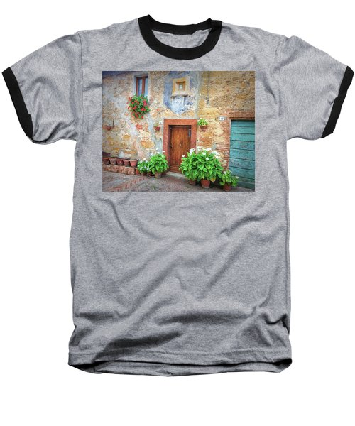 Pienza Street Scene Baseball T-Shirt