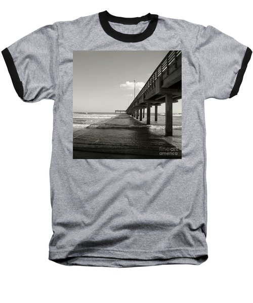 Baseball T-Shirt featuring the photograph Pier 1 by Sebastian Mathews Szewczyk