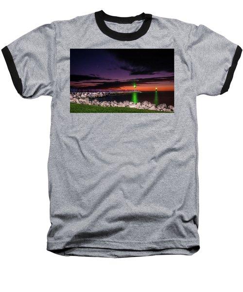 Pier And Lighthouse Baseball T-Shirt