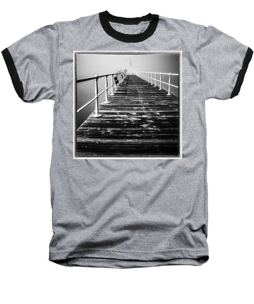 Pier At Pooley Bridge On Ullswater In The Lake District Baseball T-Shirt