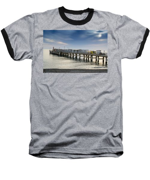Baseball T-Shirt featuring the photograph Pier At Sunset by John Williams