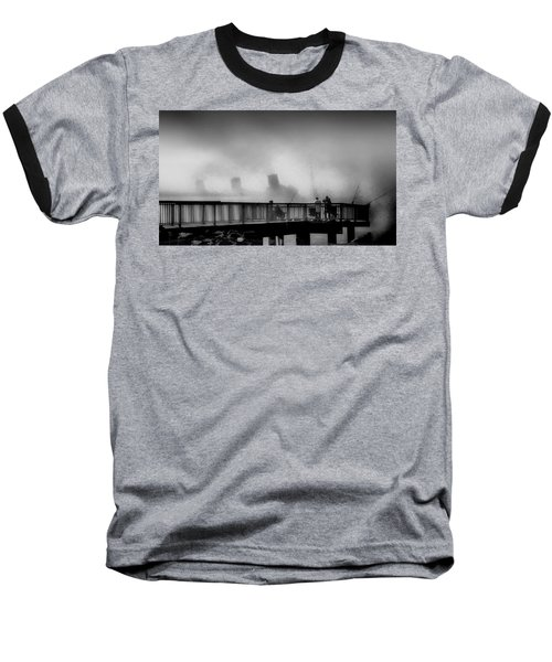 Pier Fishing Q M Baseball T-Shirt