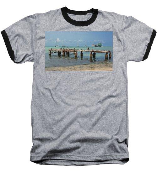 Pier For Birds Baseball T-Shirt
