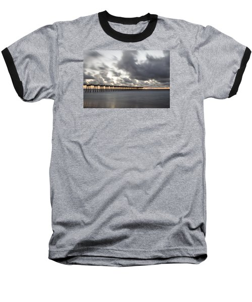 Pier In Misty Waters Baseball T-Shirt