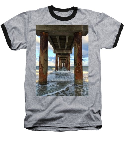 Pier In Strength And Peaceful Serenity Baseball T-Shirt by Cindy Croal
