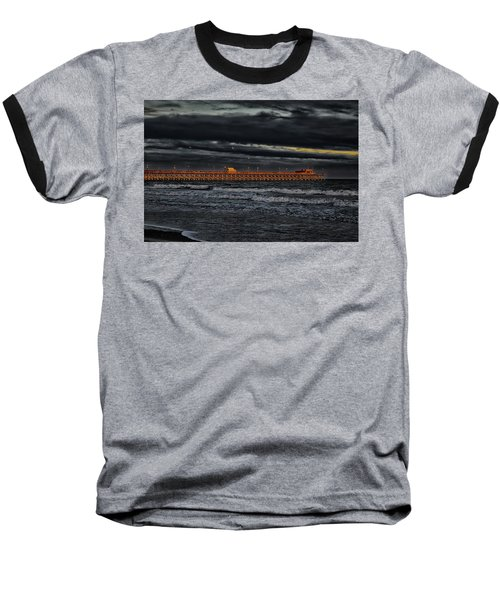 Pier Into Darkness Baseball T-Shirt by Kelly Reber