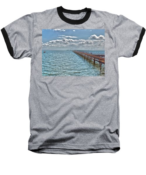 Pier Into The English Channel Baseball T-Shirt