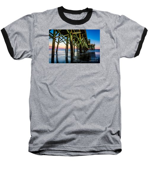 Pier Perspective Baseball T-Shirt by David Smith