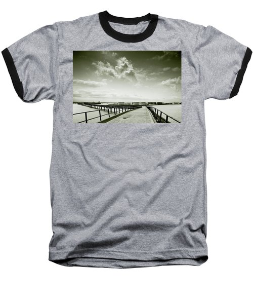Pier-shaped Baseball T-Shirt