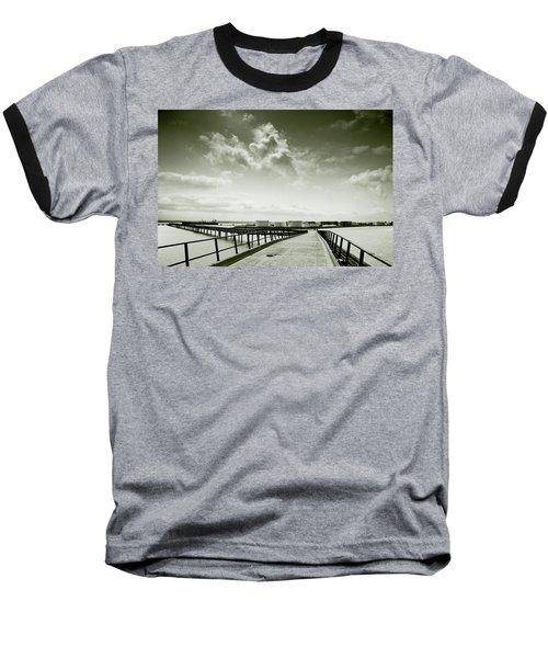 Pier-shaped Baseball T-Shirt