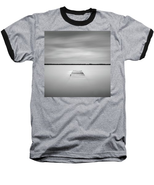 Baseball T-Shirt featuring the photograph Pier Sinking Into The Water by Todd Aaron