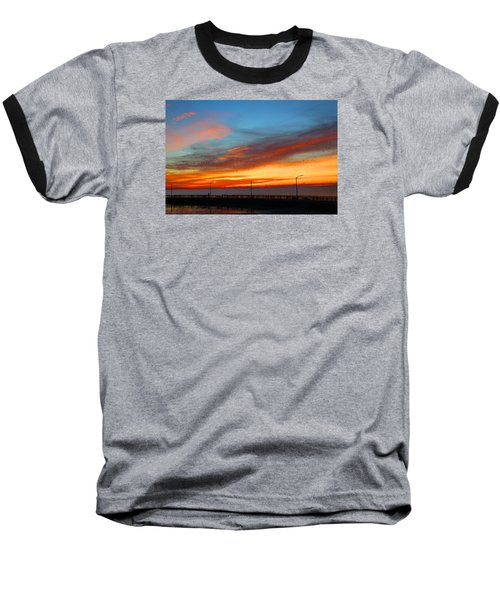 Baseball T-Shirt featuring the photograph Pier Sunrise by Michael Rucker