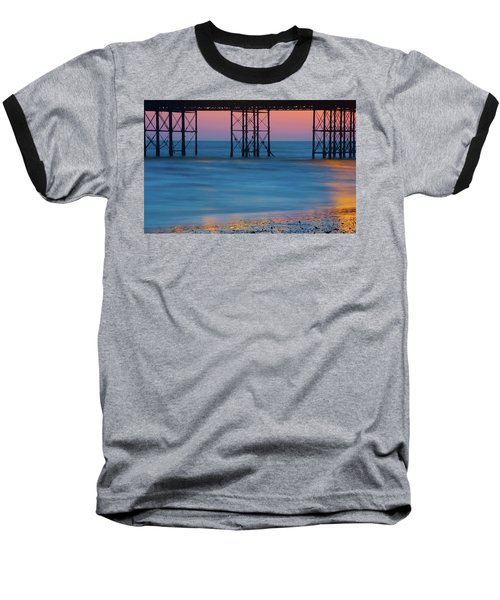 Pier Supports At Sunset I Baseball T-Shirt