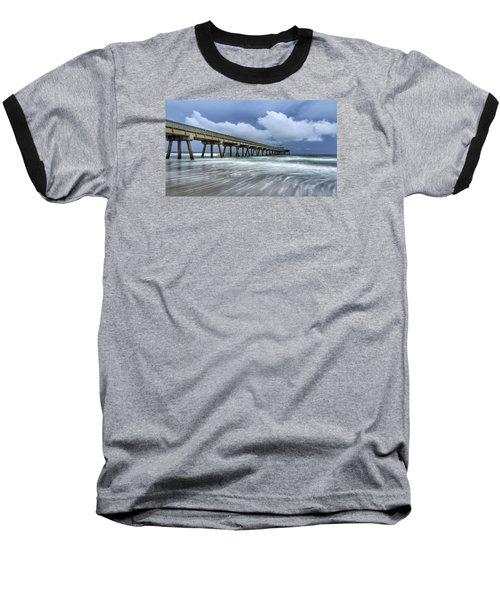 Pier Time Lapse Baseball T-Shirt