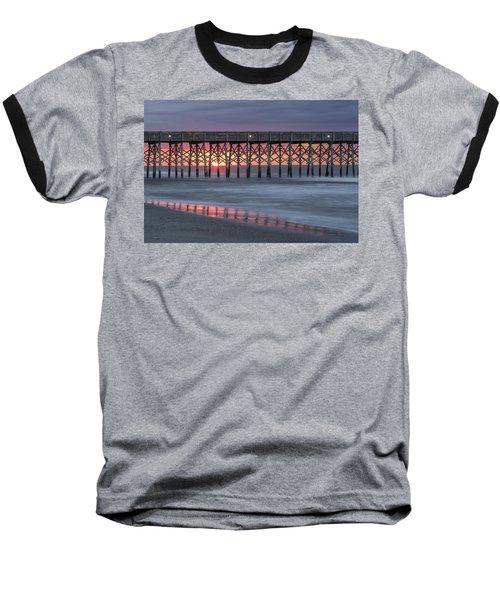 Pier With Sunrise Baseball T-Shirt