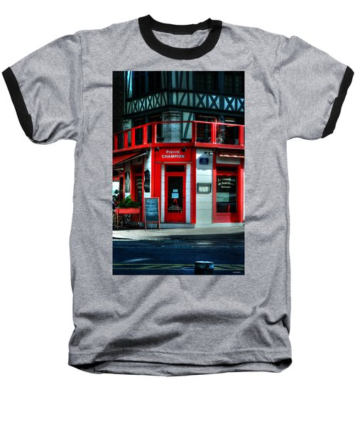 Baseball T-Shirt featuring the photograph Pierre Champion Rouen France by Tom Prendergast