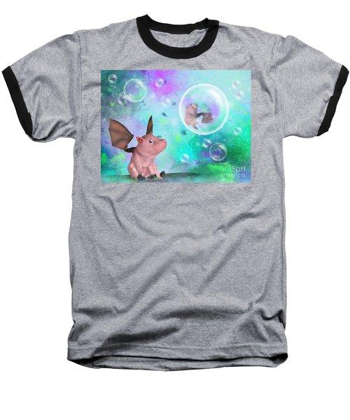 Pig In A Bubble Baseball T-Shirt