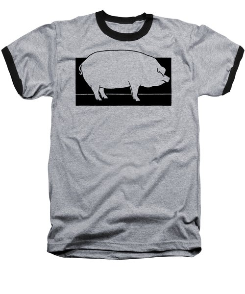 Baseball T-Shirt featuring the drawing Pig - T Shirt Pig by rd Erickson