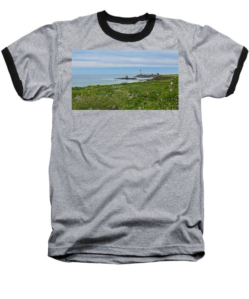 Pigeon Point Lighthouse Baseball T-Shirt by Mark Barclay
